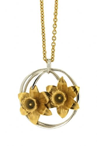Silver Daffodils Necklace
